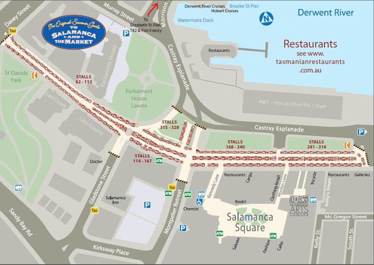 The Original Guide to Salamanca and the Market. Salamanca Market Map Hobart. Stallholder map Salamanca Markets
