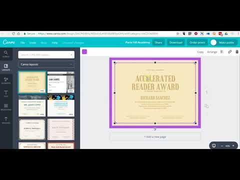 Free Technology for Teachers: How to Use Canva to Create Certificates