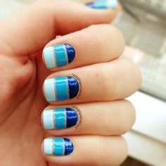 47 best cutout nail designs images on pinterest make up blue different shades of blue cut out design prinsesfo Gallery
