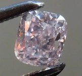 loose Diamonds : Loose Diamond: .39ct Fancy Brownish Purplish Pink SI2 Cushion Cut Diamond GIA R7