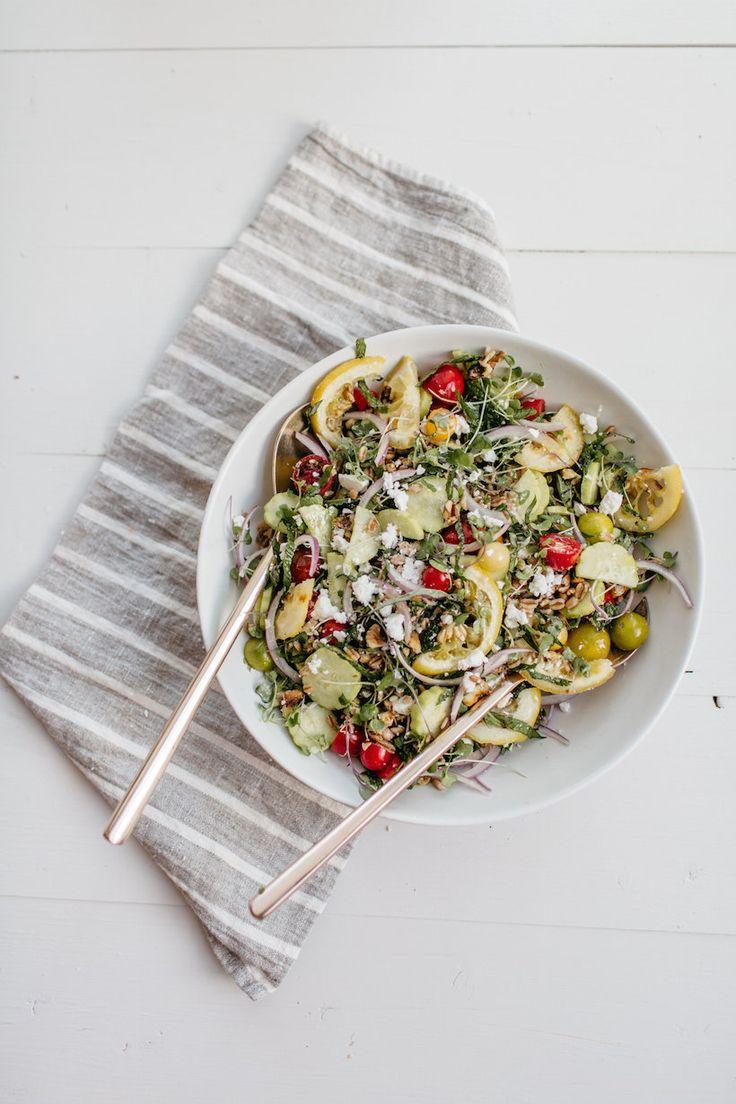 Farro, Tomato & Herb Salad with Roasted Lemons | Recipe | Salads ...