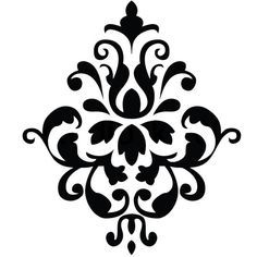 Damask Stencil on dining room stencils