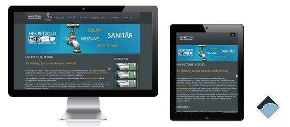HKS Petzold Leipzig Heizung Sanitär Klempner - Responsive Webseite mit Joomla von @BlueStoneDesign