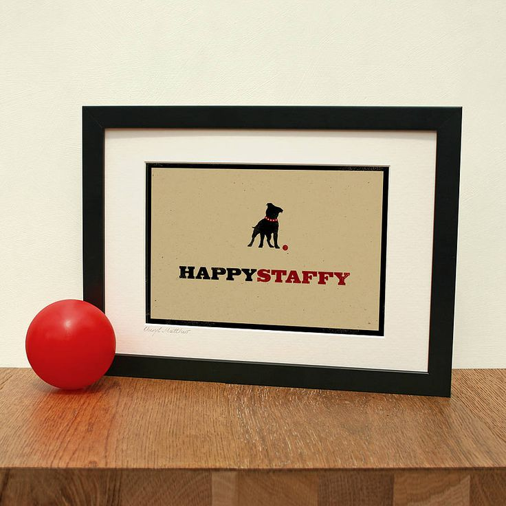 'happy staffy' art print by the typecast gallery | notonthehighstreet.com