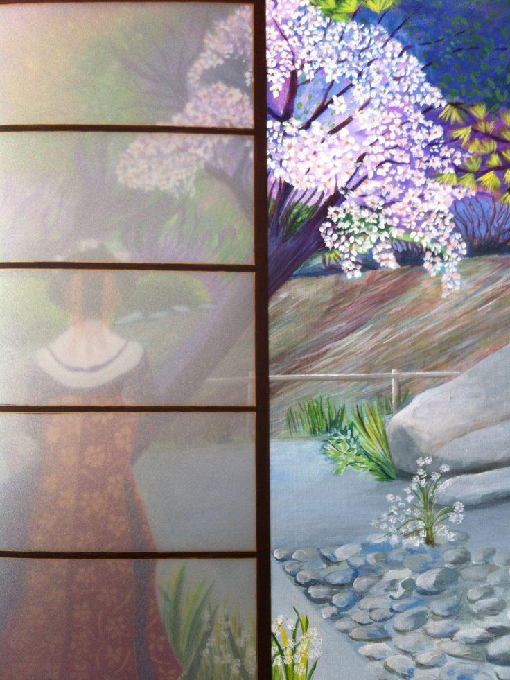 """Peinture paysage Japon défi septembre Japon @Lumeline-BLL """"jardin féerique de Yasu"""" : Peintures par lumeline-bll"""