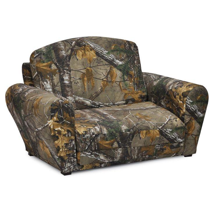 Kidz World Real Tree Camouflage Sleepover Sofa - 1850-1-RTX