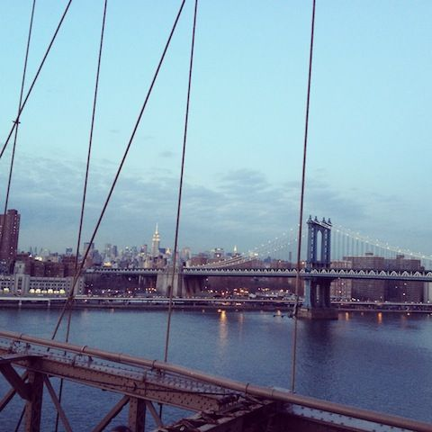 New York City's Skyline from the Brooklyn Bridge #nyc