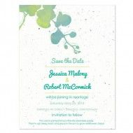 Plantable Watercolor Orchids Save The Date Card | Plantable Seed Save The Date Cards | Catalog | Botanical PaperWorks