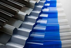 Roof panel / corrugated / polycarbonate / light-weight Marlon CS Corrugated Polycarbonate Brett Martin Plastic Sheets