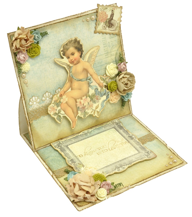 Beautiful card made with Kaisercraft's Sweet Nothings Paper Pack and Dies Cuts.