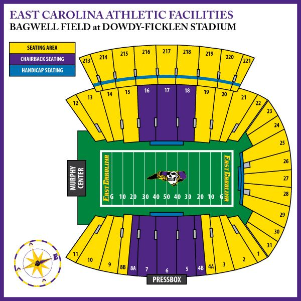 ecu football stadium seating chart - Google Search