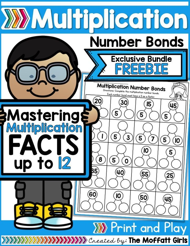 Why can't practicing multiplication facts be fun? Practice Multiplication Number Bonds with this exclusive bundle freebie.
