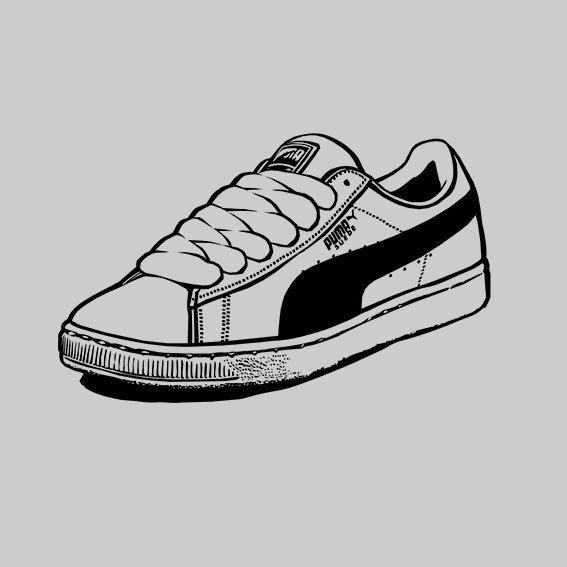 Puma Suede / sneakers /  N&B by Serge MEAZO, via Behance