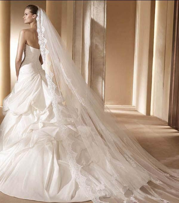 Long wedding veil hmmm wedding ideas pinterest for Long veil wedding dresses