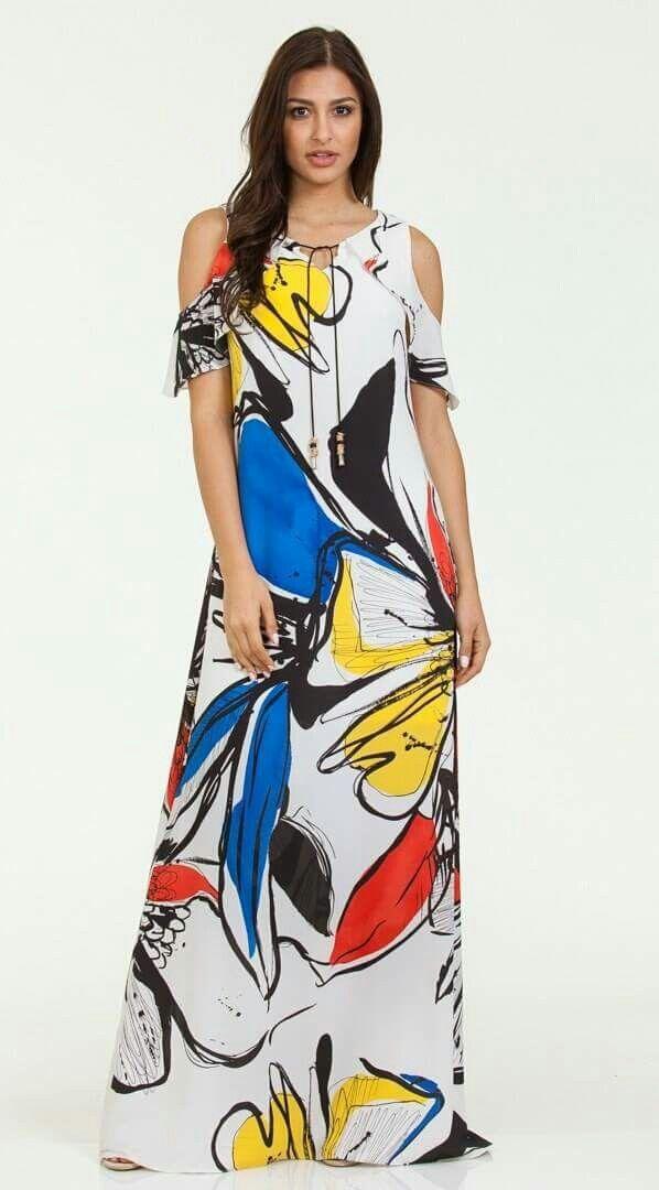 New arrivals ~ Μάξι εμπριμέ φόρεμα που θα τραβήξει τα βλέμματα!