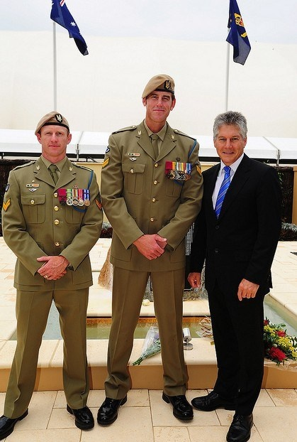 Australian Special Forces soldiers and VC recipients with the Defence Minister