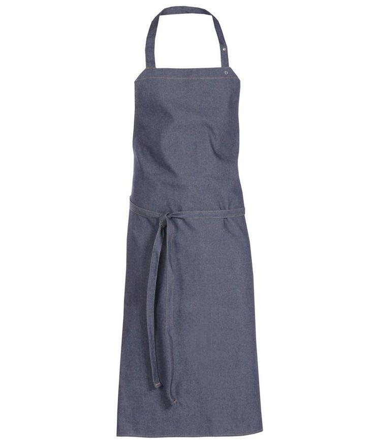Nybo Workwear smækforklæde uden lommer, denim