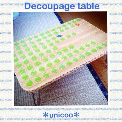 DIY:デコパージュテーブル。
