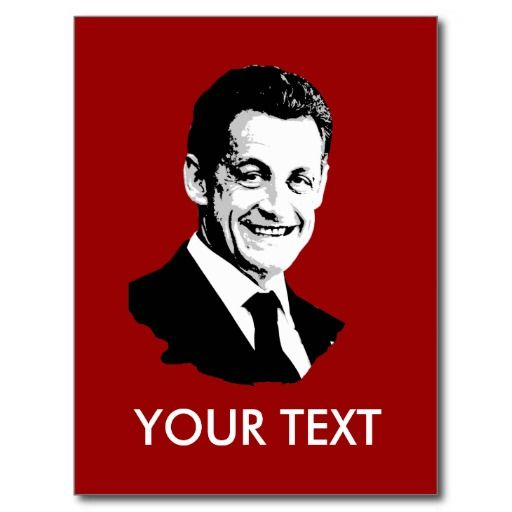 Nicolas Sarkozy Post Card