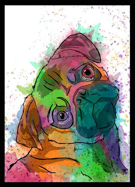 Quadro Pug - Dog in Art