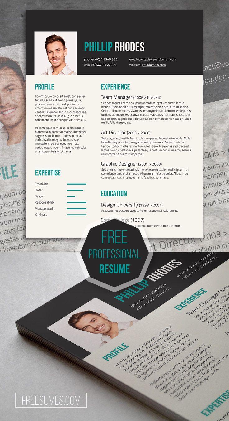 Free Modern Resume Template 101 best Free