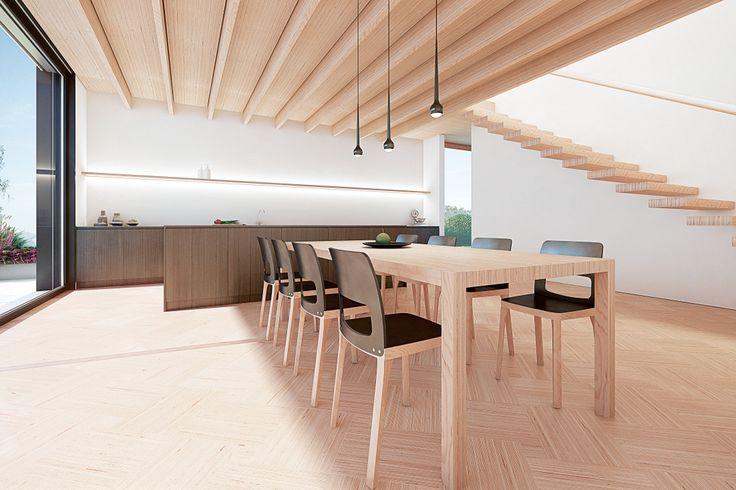 Großzügig Innovative Holzpaneele Deckenmontage Ideen ...