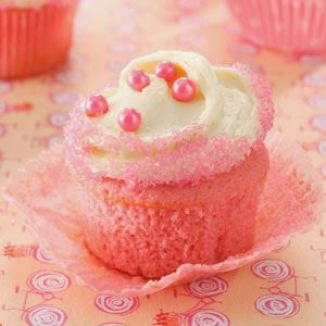 """Pink Velvet Cupcakes « My sister loves all things """"girly"""" and pink, so this recipe was perfect for her birthday. Oddly enough, my brother (who's not a fan of pink) devours these cupcakes, too!"""