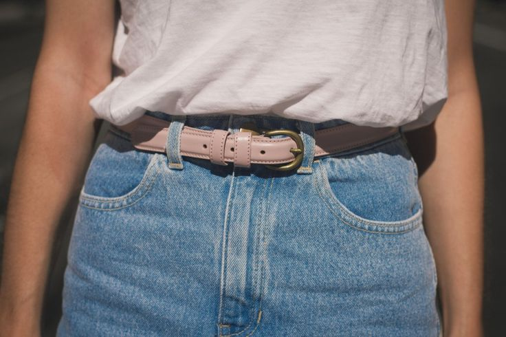 Pastel belt and high waisted shorts