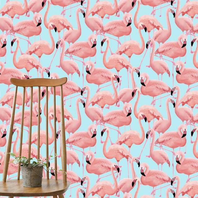 A quirky and striking wallpaper which will provide a stylish feel to any room. Designed by the highly talented Lydia Meiying. (EXTRA WIDE ROLL)About the Design: A fantastic flamboyance of flamingos to make your room look fabulous About the Designer: Lydia is inspired by the wonders of the natural world, and creates beautiful designs of rare and tropical birds, exotic flowers and fauna, imbued with bold, bright luscious colour palettes. Our beautiful wallcoverings are all printed onto the ...
