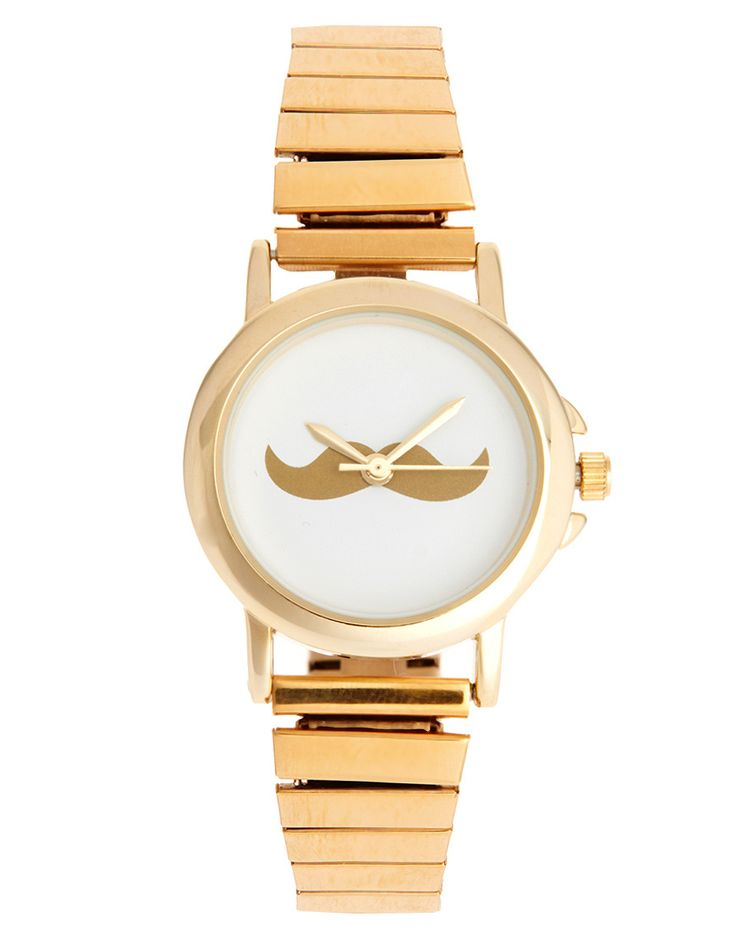Yes please! Moustache wrist watch gold