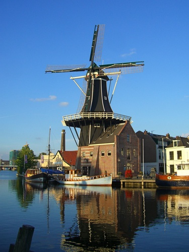 "Haarlem, Holland. Windmill called ""De Adriaan"""
