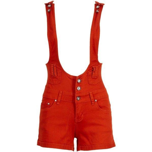 Short Dungarees (355 ZAR) ❤ liked on Polyvore featuring shorts, bottoms, pants, jumper, women, dungaree shorts, cotton shorts and short shorts