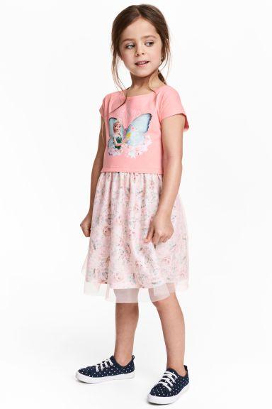 Sukienka z tiulowym dołem - Różowy/Kraina lodu - Dziecko   H&M PL 1