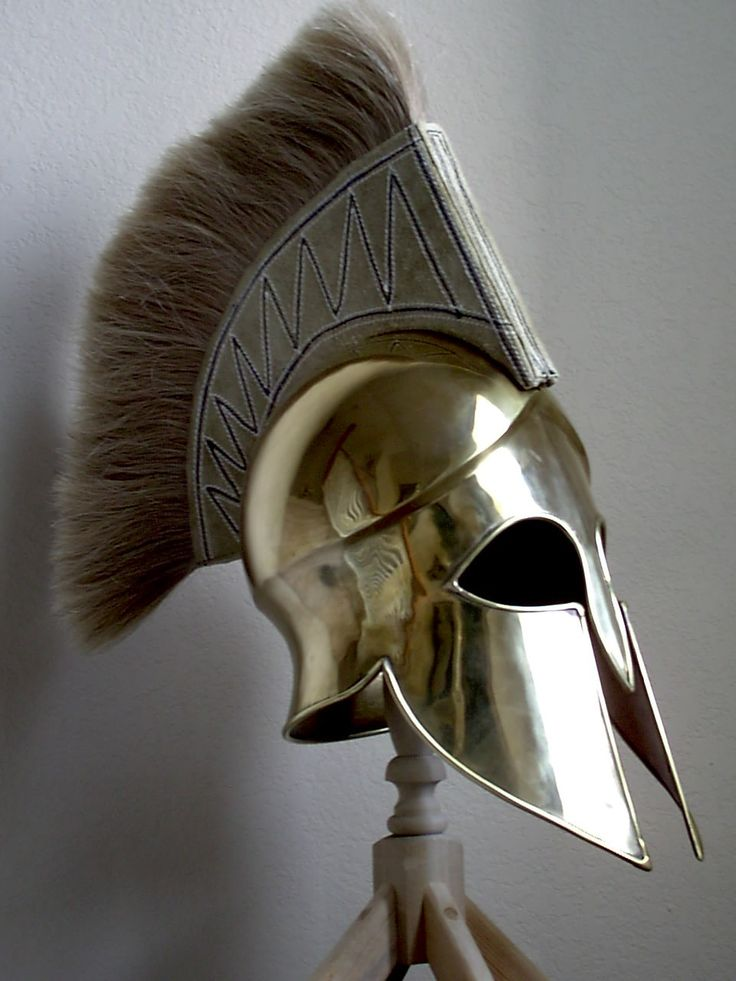 Helmet (slade with bevor) http://echomon.co.uk/wp-content/uploads/2012/01/Spartan-Brass-Helmet.jpg
