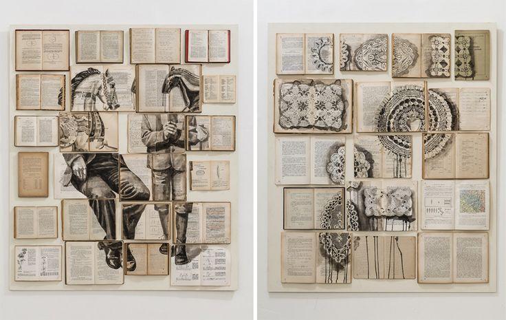 Pars Particularis (books, wood, nails, ink, acrylic) 2014, Ekaterina Panikanova