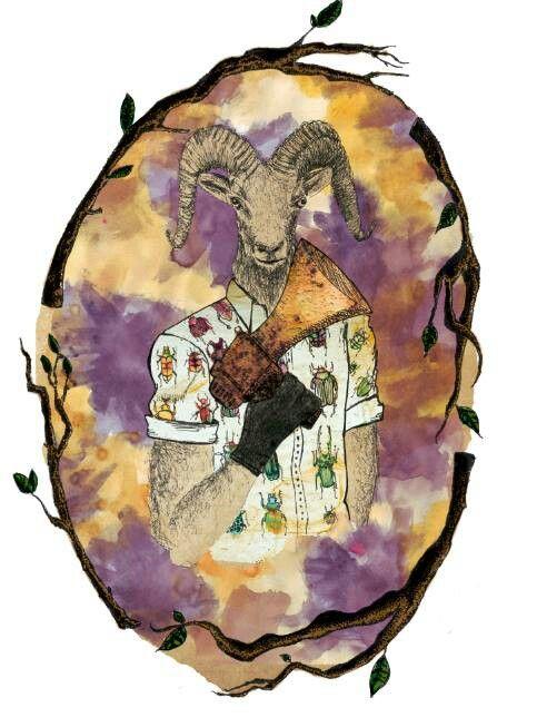 #Goat #watercolors #illustration