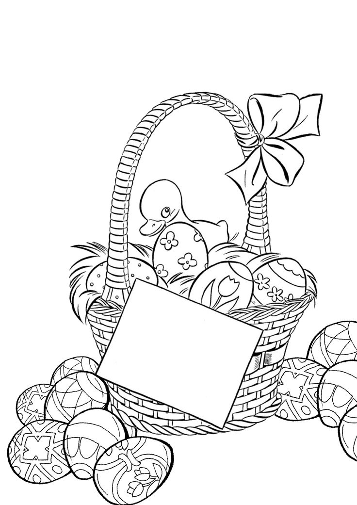 72 best outlines // EASTER images on Pinterest | Coloring pages ...