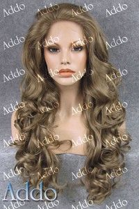 Wish | Attractive Kim Kardashian Long Wavy Brown Blond mix Synthetic Lace Front Wig
