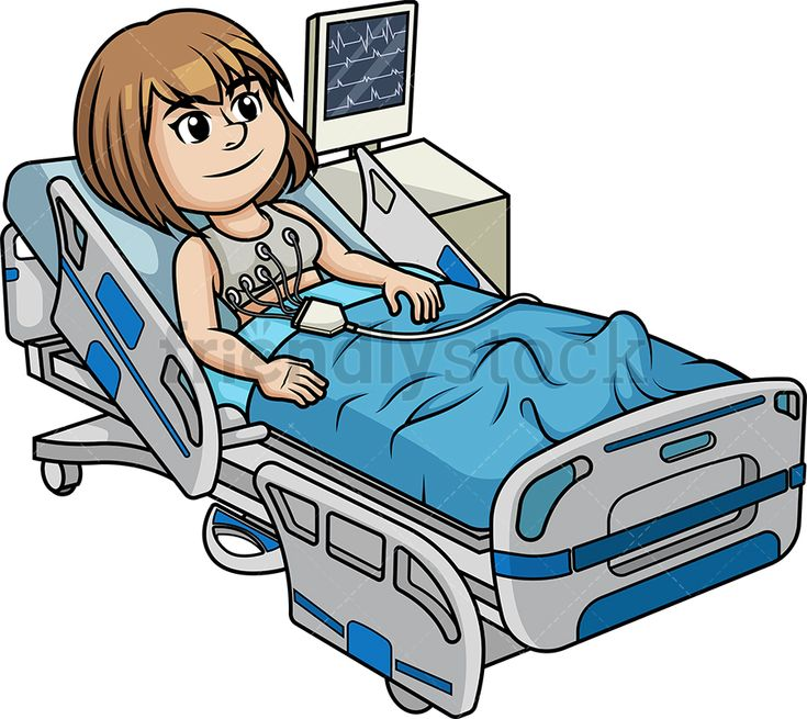 Woman Undergoing An Electrocardiogram | Clip art, Cartoon ...