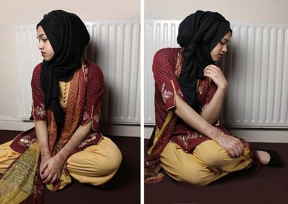 Saima Chowdhury - I.M Hijabs Black Hijab, Selwar Kameez, Deichmann Black Heels - Henna