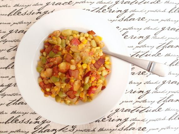 Spicy Succotash is one of twelve delicious courses in our inaugural #progressiveeats dinner. Join us on the 4th Tuesday of each month to see what's cooking!