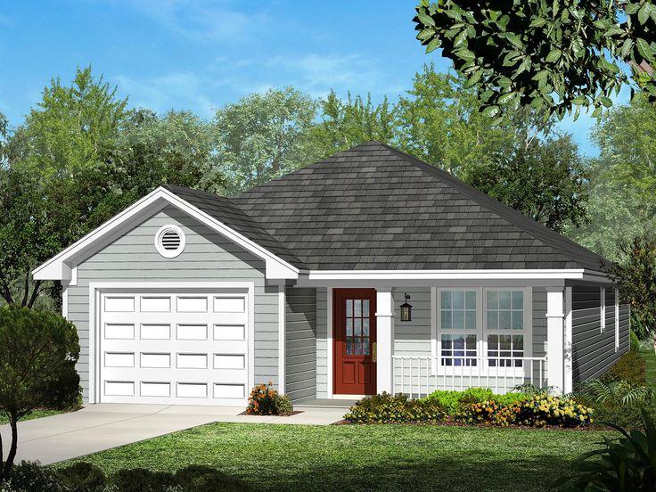 Eplans Ranch House Plan Narrow Lot Three Bedroom 1250