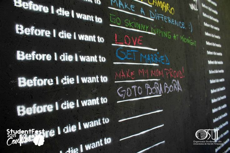 Before I die #words #studentfest #street #art  #2015 #conflict