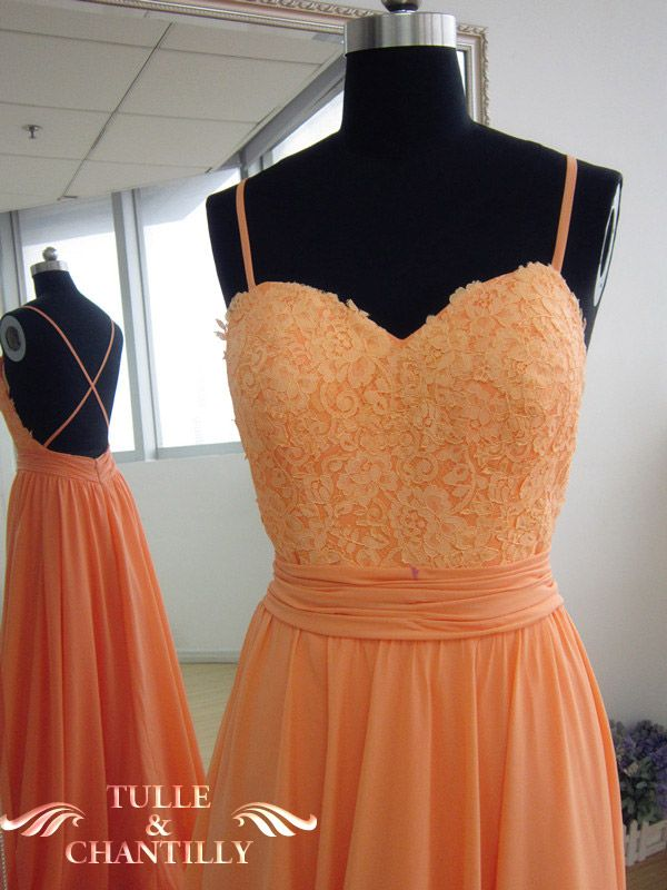 {Design Your Own Dress} Long Backless Lace Prom Dress with Draped Chiffon Skirt