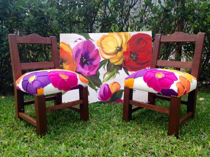 Materas florales bordadas a mano dise os exclusivos y for Muebles de oficina tucuman 1564
