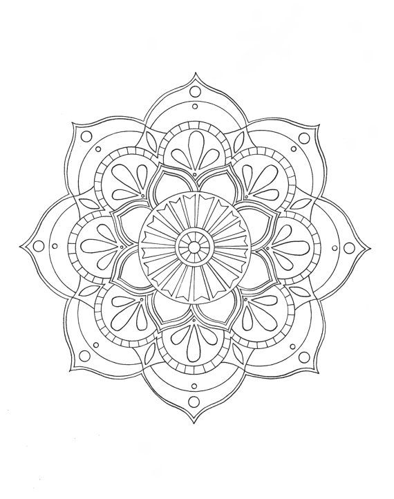 pre-framed mandala coloring page by syvanahbennett on Etsy                                                                                                                                                     More