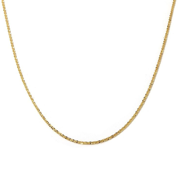 """Passport to Gold 14K Gold 1.5mm Sparkle Chain 16"""" Necklace"""