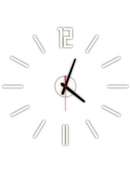 Modern wall clock LUIS, color: white coffee Reference:  X0019-RAL1015-BLACK hands Condition:  New product  Availability:  In Stock  Time to change! Decorating watches will revive every interior, highlight the charm and style of your space. Discover your living with new clocks. Plexiglass wall clocks are a wonderful decoration of your interior.