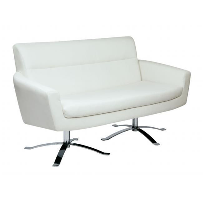 nova loveseat with white faux leather by ave 6