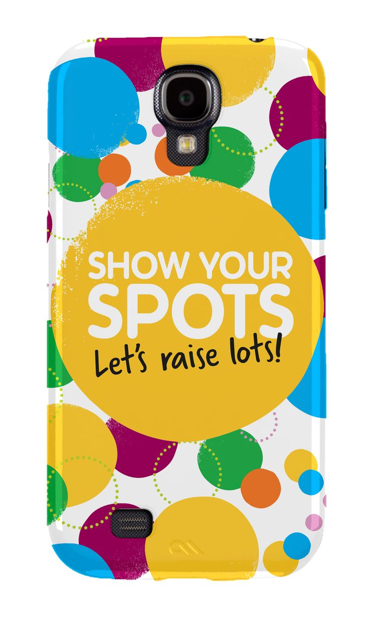"Galaxy S4 case available for £19.99.  £4 from the sale of this case goes towards the Children in Need appeal!   ""£4 from the sale of this case will benefit The BBC Children in Need Appeal, a company limited by guarantee (charity number 802052 in England & Wales and SC039557 in Scotland)""      http://www.cleverkit.com/cases/by-device/galaxy-s4/case-mate-children-in-need-barely-there-cases-for-samsung-galaxy-s4-logo"